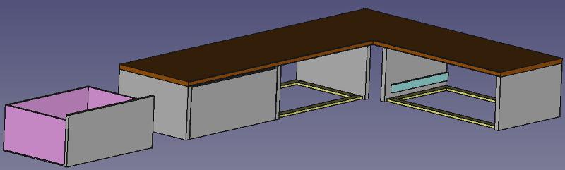 3D Skizze Badschrank