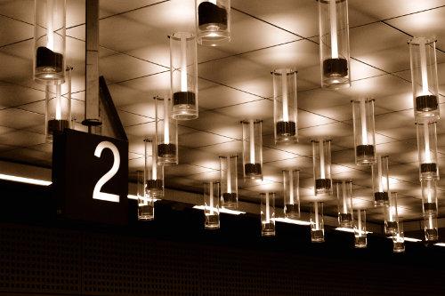 Deckenlampen im Berliner Hauptbahnhof