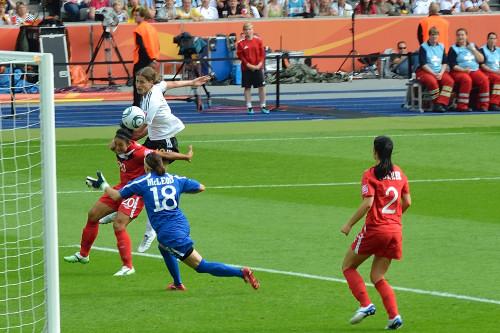 Kerstin Garefrekes während FIFA Worldcup 2011 Deutschland gegen Kanada