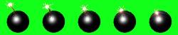 Animationsdatei zur Darstellung einer Bombe