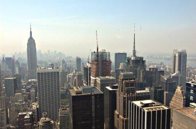 Blick auf New York Downtown vom Rockefeller Center aus