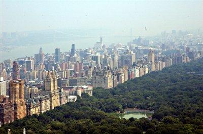 Central Park vom Rockefeller Center aus fotografiert