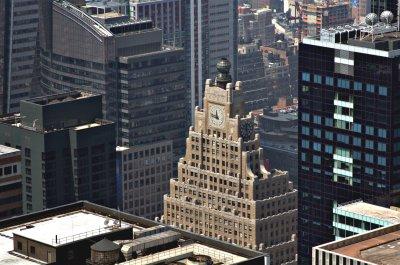 Abgestuftes Dach auf Wolkenkratzer in New York