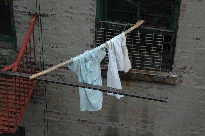 Wäscheleine in New York